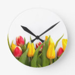 Tulipanes coloridos relojes