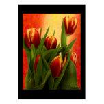 Tulipanes comerciales 2010 de las tarjetas de visi