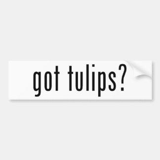 ¿tulipanes conseguidos? etiqueta de parachoque