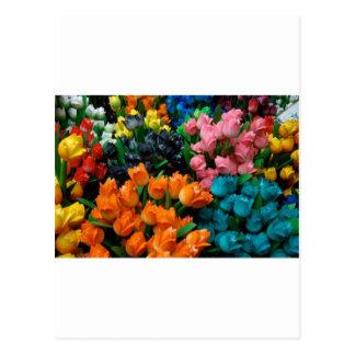 Tulipanes de Amsterdam Tarjeta Postal