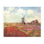 Tulipanes de Claude Monet en Holanda Postal
