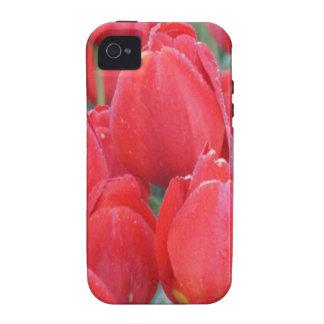 Tulipanes de color rosa oscuro iPhone 4/4S carcasa