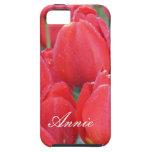 Tulipanes de color rosa oscuro iPhone 5 Case-Mate fundas