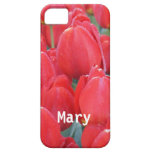 Tulipanes de color rosa oscuro iPhone 5 protectores