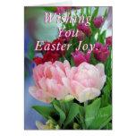 Tulipanes de EasterJoy Tarjeton