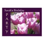 Tulipanes de encargo de las tarjetas de las invitación 12,7 x 17,8 cm