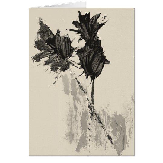 Tulipanes de la acuarela del vintage tarjeta de felicitación