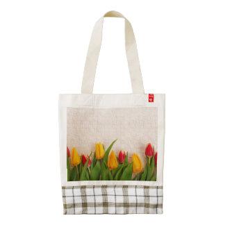 Tulipanes de la primavera bolsa tote zazzle HEART