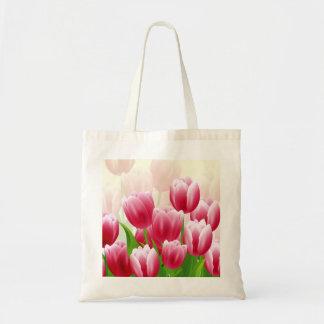 Tulipanes de la primavera. Bolso del regalo de Pas Bolsa Tela Barata