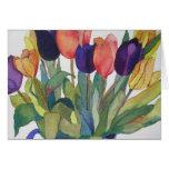 Tulipanes de la primavera felicitación