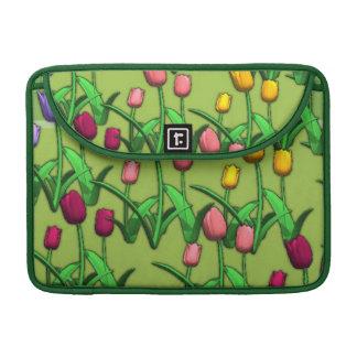 Tulipanes de la primavera fundas para macbook pro