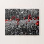 Tulipanes de la primavera roja rompecabezas con fotos