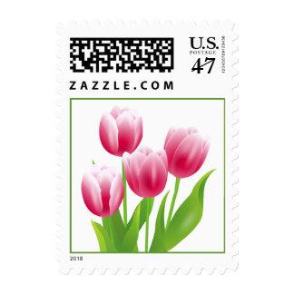 Tulipanes de la primavera. Sello de Pascua