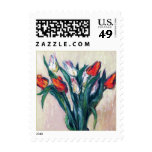 Tulipanes de la primavera. Sello de Pascua de la b