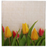 Tulipanes de la primavera servilleta imprimida