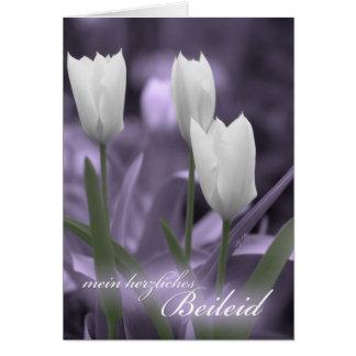 Tulipanes de la tarjeta de condolencia de la