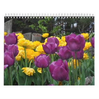 Tulipanes de la tentación calendarios