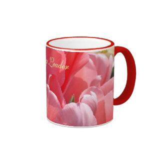 Tulipanes de los regalos de las tazas de café del