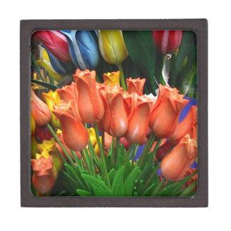 Tulipanes de madera de Amsterdam Caja De Recuerdo De Calidad