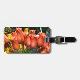 Tulipanes de madera de Amsterdam Etiquetas Bolsas