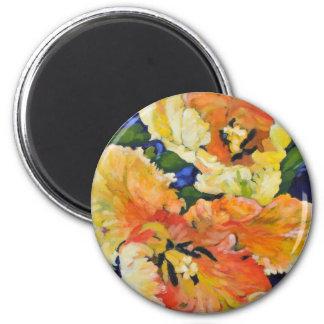 Tulipanes de oro imán redondo 5 cm