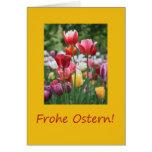 Tulipanes de Pascua del alemán Tarjeton