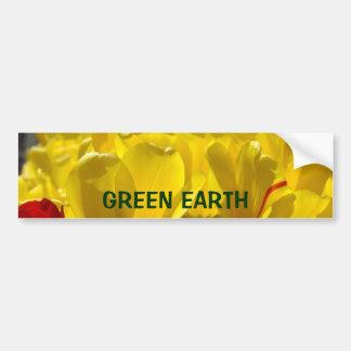 Tulipanes del amarillo de la pegatina para el pegatina para auto