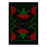 Tulipanes del art déco, rojo, invitación