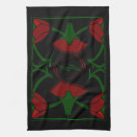 Tulipanes del art déco, toalla roja