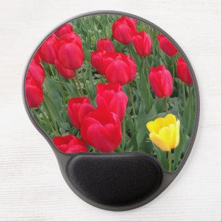 Tulipanes del cojín de ratón del gel alfombrilla de ratón con gel