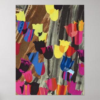 Tulipanes del deco de Trt Posters