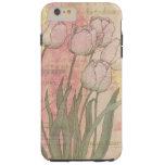 Tulipanes del estilo del vintage funda de iPhone 6 shell