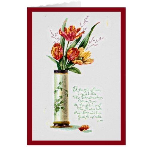 Tulipanes del navidad para Thee Tarjeta De Felicitación
