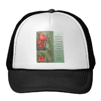 Tulipanes del rojo del rezo de la serenidad gorra