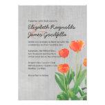 Tulipanes del vintage que casan invitaciones
