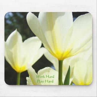 Tulipanes duros del mousepad de los regalos del ju tapetes de ratones