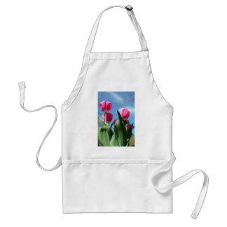 Tulipanes elevados delantal