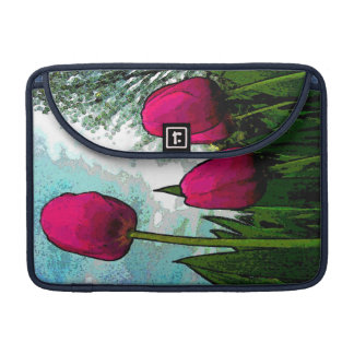 """""""Tulipanes elevados"""" Funda Macbook Pro"""