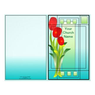 Tulipanes en el boletín de la primavera de la vent flyer personalizado
