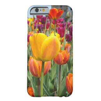 Tulipanes en el caso del iPhone 6 de la brisa Funda Barely There iPhone 6