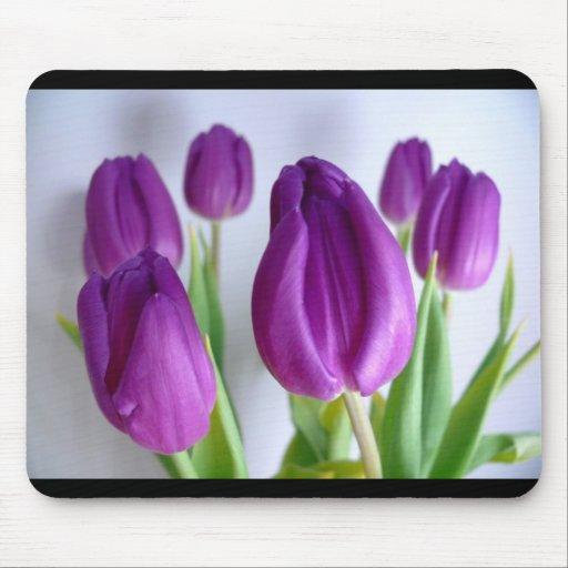Tulipanes en el florero tapete de raton