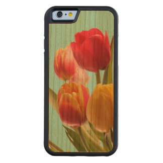 Tulipanes en el país funda de iPhone 6 bumper cerezo