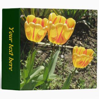 Tulipanes en la carpeta del personalizado del sol
