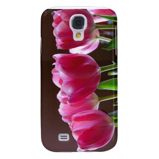 Tulipanes en la primavera funda para galaxy s4