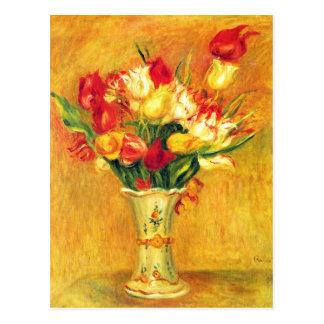 Tulipanes en un florero de Pedro Renoir Tarjeta Postal