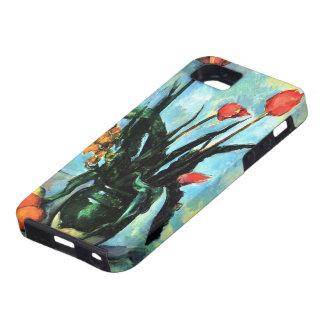 Tulipanes en un florero por de Cezanne todavía del iPhone 5 Case-Mate Cárcasa