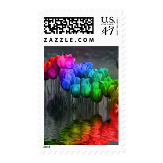 Tulipanes flooded.jpg del arco iris - modificado timbre postal