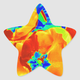 tulipanes fluorescentes pegatina en forma de estrella