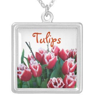 Tulipanes franjados colgante cuadrado