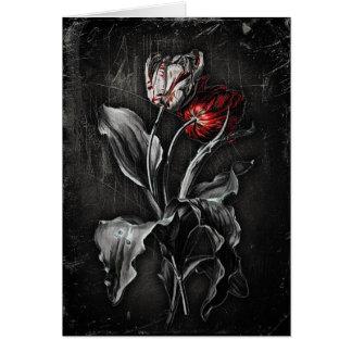Tulipanes góticos tarjeta de felicitación